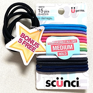 No Damage Elastics keep your little one's hair just where they want it!  15 pieces per pack with 5 bonus.