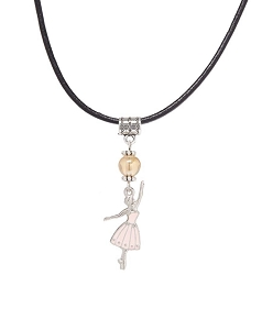 She'll be able to showcase her love for ballet in a subtle way with this necklace that features a small ballerina pendant.