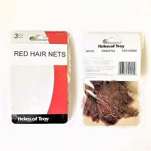 bc13 Red Hair Nets (3pc.)