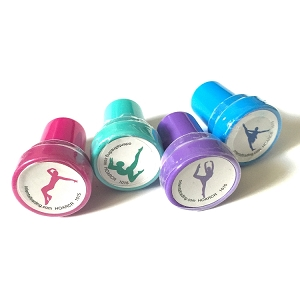 Delight your little dancer with this non toxic stamper set that celebrates her passion and dedication.