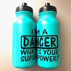 g332tg Turquoise DANCER SUPERPOWER Print 20oz. Bottle (ea.)
