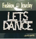 p40 Let's Dance Rhinestone Pin (ea.)