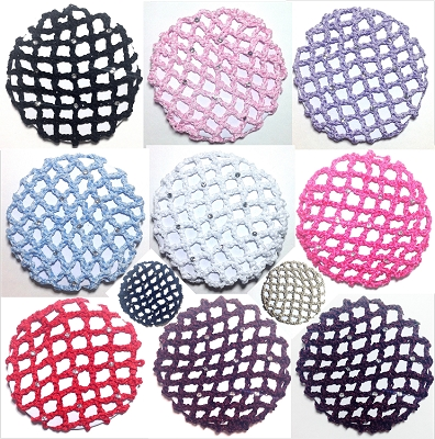 Keep your dancer's hair neatly in a bun with these high quality rhinestone bun covers.