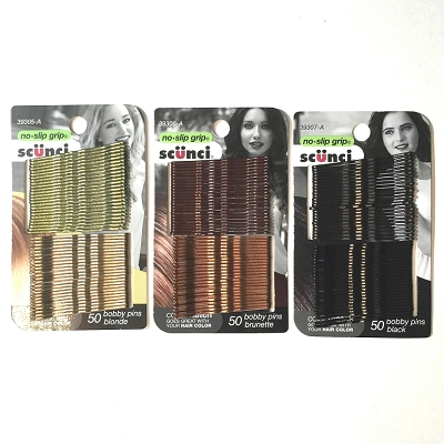 ha251 SCUNCI Color Match Bobbi Pins 2