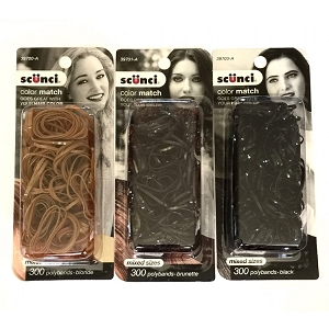 ha273 CONAIR Natural Hair Color Hair Elastics (300pc.)