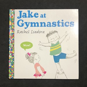 """Jake and his diverse group of friend love their action-packed gymnastics class, where they stretch, tumble, balance, turn somersaults and so much more. This is the perfect book to introduce toddlers to the joy of movement and the fun of gymnastics."" Age Range: 3 - 5 years Grade Level: Preschool - Kindergarten Hardcover: 32 pages Publisher: Nancy Paulsen Books (June 12, 2014) Language: English ISBN-10: 0399160485 ISBN-13: 978-0399160486 Product Dimensions: 8.9 x 0.4 x 8.8 inches"